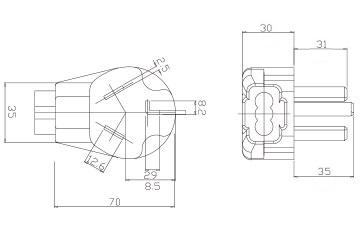 30   125v Wiring Diagram furthermore Rv Power Receptacle further 3 Prong Dryer Cord Wiring Diagram further Piggyback Plug Wiring Diagram as well Wiring Diagram 30   Rv Plug. on wiring diagram 4 prong plug generator